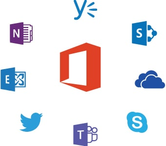 Office 365 integration icons