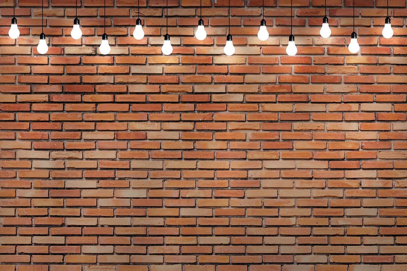 Wall with lights