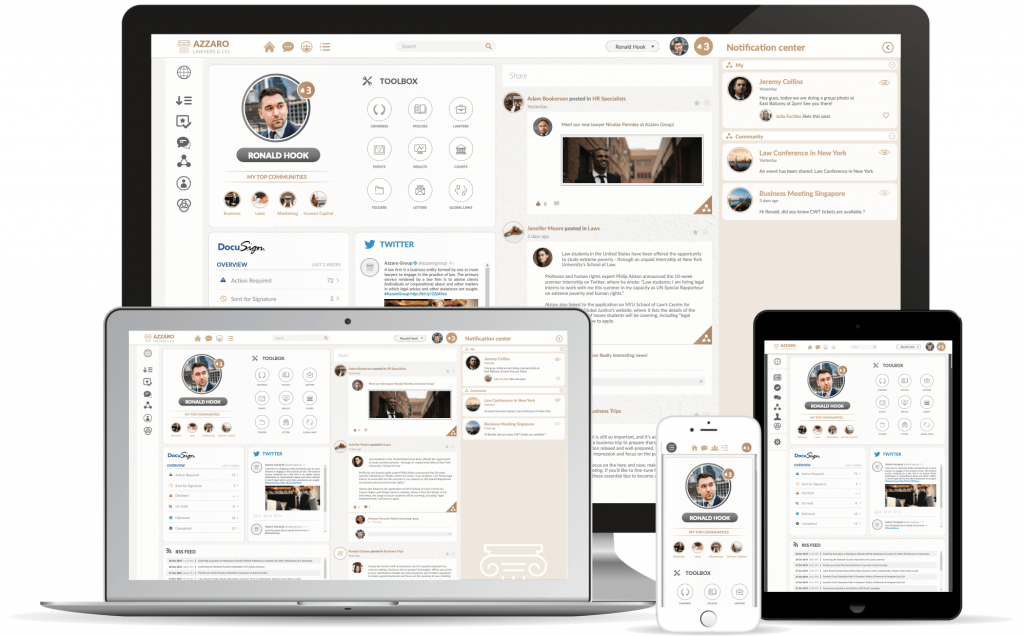 Platform, Dashboard for Legal Firms